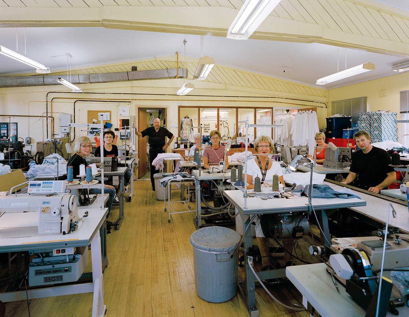 The Kihlén clothing workshop, Hökerum, 19 September 2006